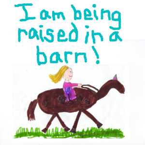 I am being raised in a barn!